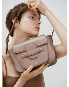 Eartha dot bi-colour leather clutch