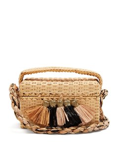 Carolsello tassel-trimmed straw bag
