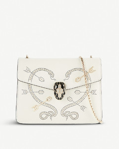 Serpenti Forever studded leather shoulder bag