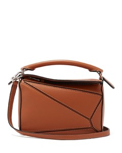 Puzzle mini grained-leather cross-body bag