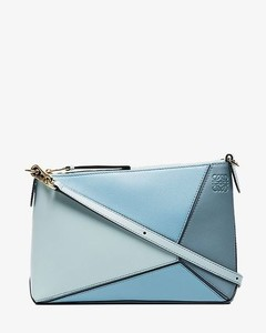 blue Puzzle leather cross body bag