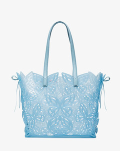 Blue Liara Butterfly jelly tote bag
