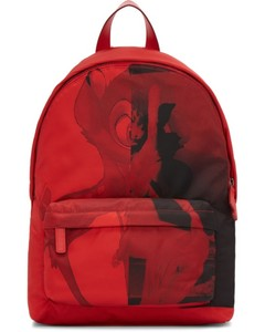 Red Small Nylon Bambi Backpack