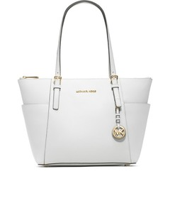 Women's East West Tote Bag - Optic White