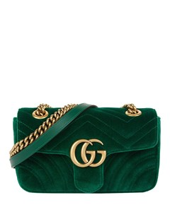 Velvet Mini Marmont Shoulder Bag