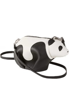 Panda leather cross-body bag