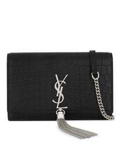 Monogram Kate crocodile-embossed leather wallet-on-chain