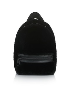 PRIMARY BACKPACK IN BLACK SHEARLING WOOL