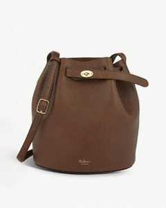 Abbey leather bucket bag