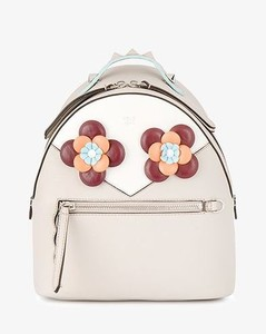 floral eyes leather backpack
