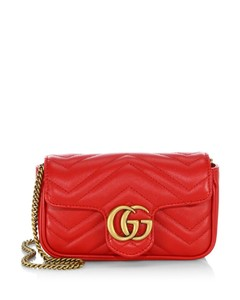 GG Marmont Matelassé Leather Mini Chain Camera Bag
