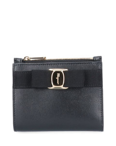 Demilune leather clutch bag
