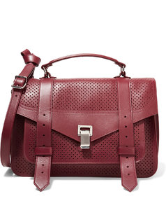 PS1 Medium perforated and smooth leather shoulder bag