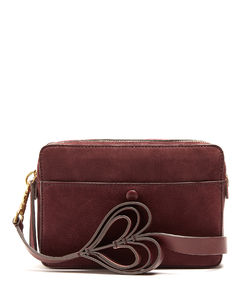 Double stack leather cross-body bag