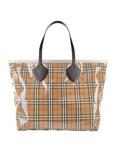 Giant Vintage Check Reversible Tote