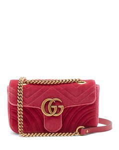 GG Marmont mini quilted-velvet cross-body bag