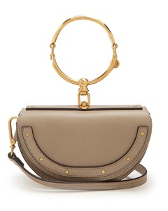 Nile Minaudiere leather clutch
