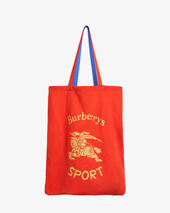 Red Archive Logo Shopper Tote Bag