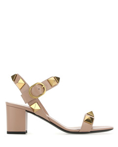 Boots SUSANNA nappa leather black rivets silver floral