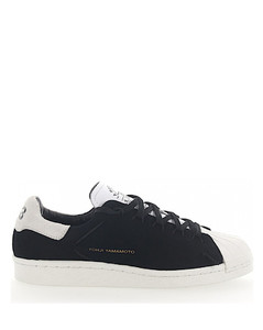 Sneakers SUPER KNOT suede black leather white