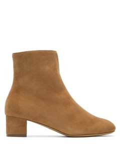 Tan Shearling Ankle Boots