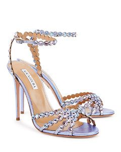 Chain Leather Loafer Slides