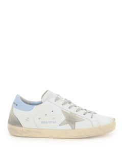 Women's Majestic Leather Star Print Cupsole Trainers - Seta Silver