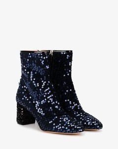 Blue sequin 65 ankle boots