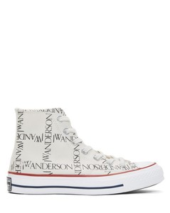 White Converse Edition All Over Logo Chuck Taylor All Star 70s Hi Sneakers