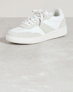 Red Felt Smile Sneakers