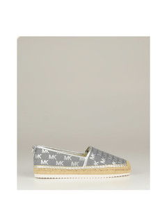 FUR ABBY SANDAL WITH RHODIUM