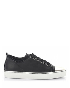Sneaker SKPK leather black patent leather silver black