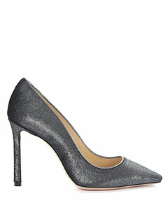 Pumps ROMY 100 velvet silver metallic