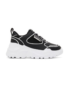 Black Ruched High-Top Sneakers