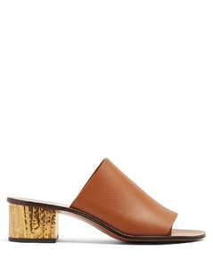Qassie block-heeled mules