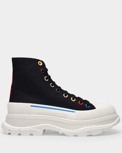 Sneakers nappa leather metallic gold embroidery logo stripes