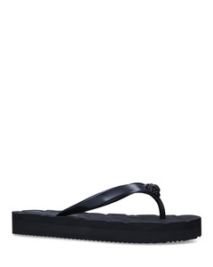 Black Leather Lace-Up Anais Sandals