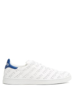 Low-top perforated-leather trainers