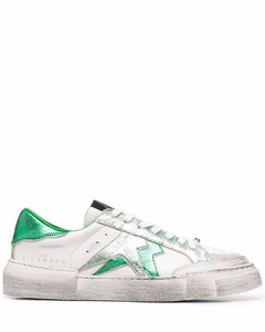 Rockstud block-heel leather sandals