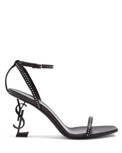 Opyum logo-heel patent-leather sandals