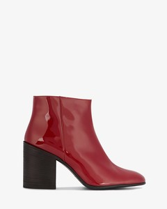 Red Patent Leathe Beth 90 ankle boots