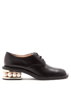 Casati pearl-heeled nappa leather Derby shoes