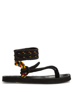 Epipa plaited-canvas Velcro-fastening sandals