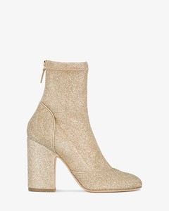 Gold Glitter Melody 100 Sock Boots