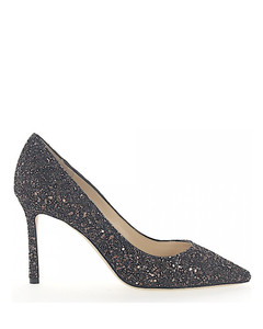 Pumps ROMY 85 fabric glitter bronze black