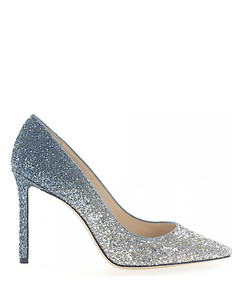 Pumps ROMY 100 fabric glitter silver blue