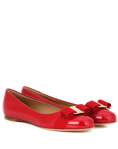 Varina patent leather ballerinas