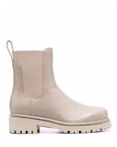 Silver Metallic Leather Bari Ballerina Shoes