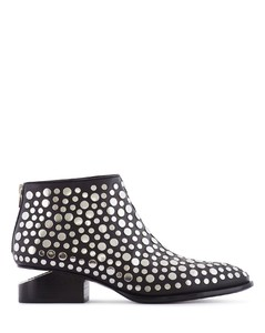 KORI STUDDED LEATHER LOW BOOTS