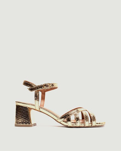 CHAIN EMBELLISHED LEATHER ANKLE BOOTS
